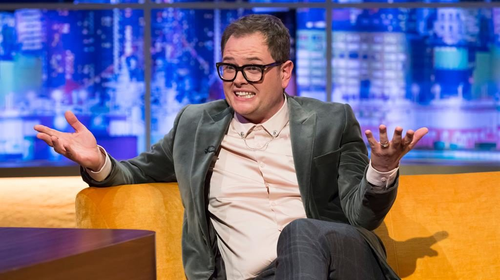 Dishing the dirt: Alan Carr compares marriage with food during an interview with Jonathan Ross PICTURE: REX