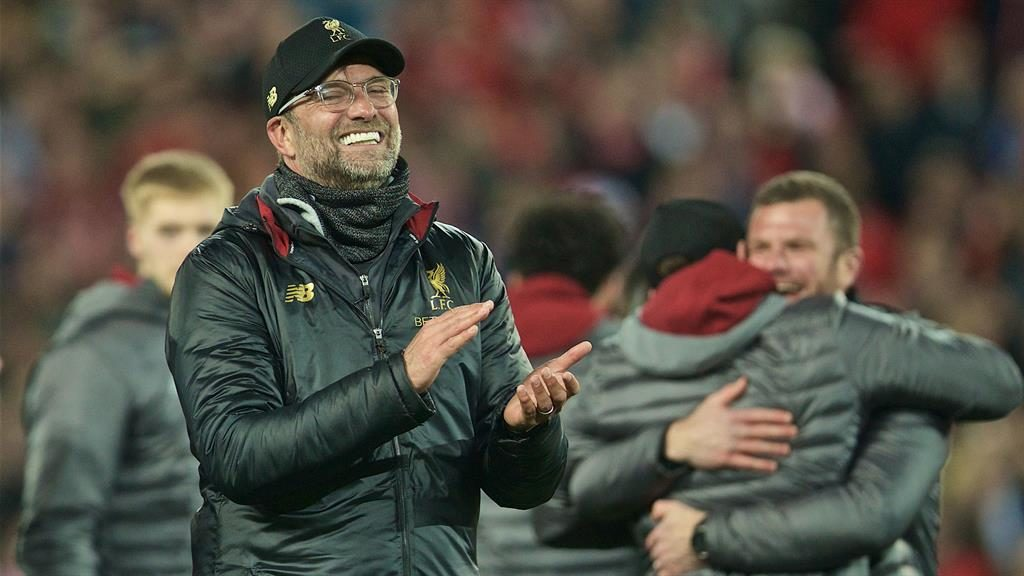 All smiles: Jurgen Klopp after Liverpool reached the final