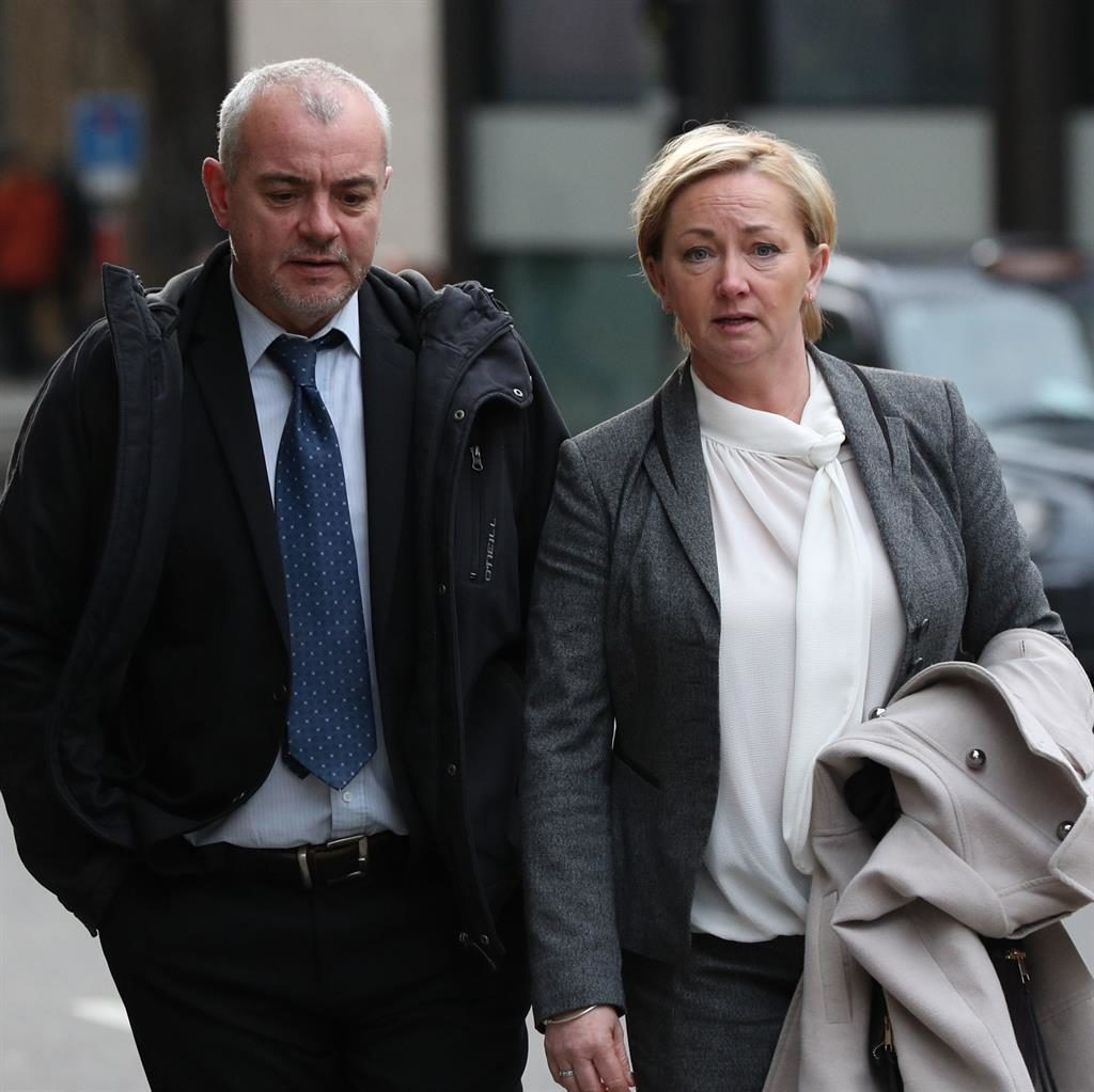 Partners in crime: Corrupt detectives Lee Pollard and Sharon Patterson PICTURE: PA