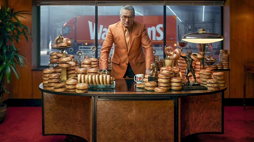 Roll play: De Niro plays a gangster in the ad for Warburtons bagels