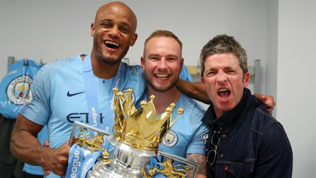 Some might play: Noel with Vincent Kompany (left) PICTURES: GETTY