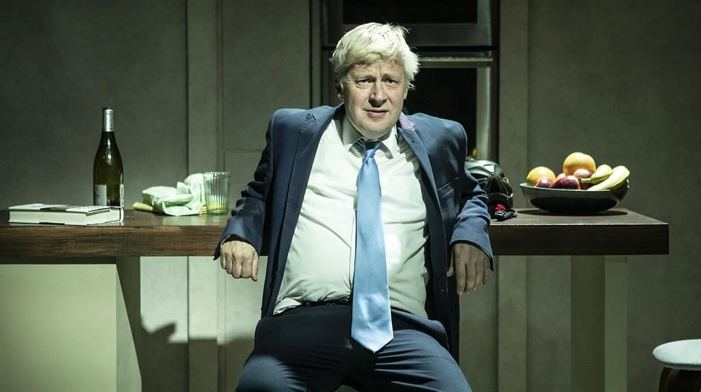 Bore-is: Will Barton as 'court jester' Johnson in the Brexit play PICTURE: PAMELA RAIT