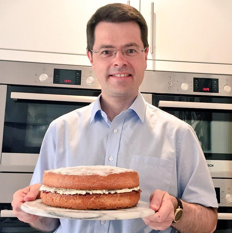 Plenty of dough? James Brokenshire posted a cake photo after criticism PICTURE: TWITTER