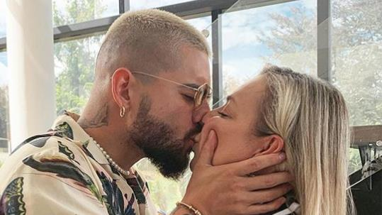 Pucker up: Maluma's controversial snog with his mum PICTURE: INSTAGRAM