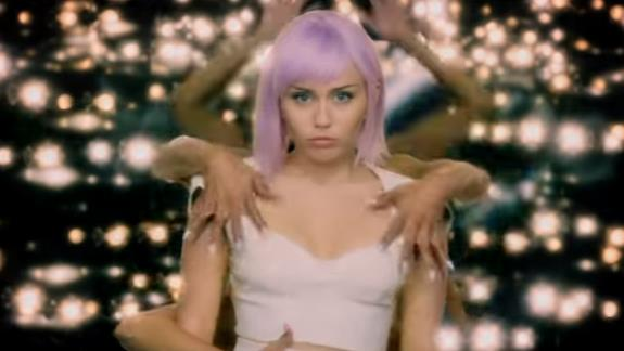Disillusioned: Miley plays the role of a pop star required to entertain a crowd of 20,000