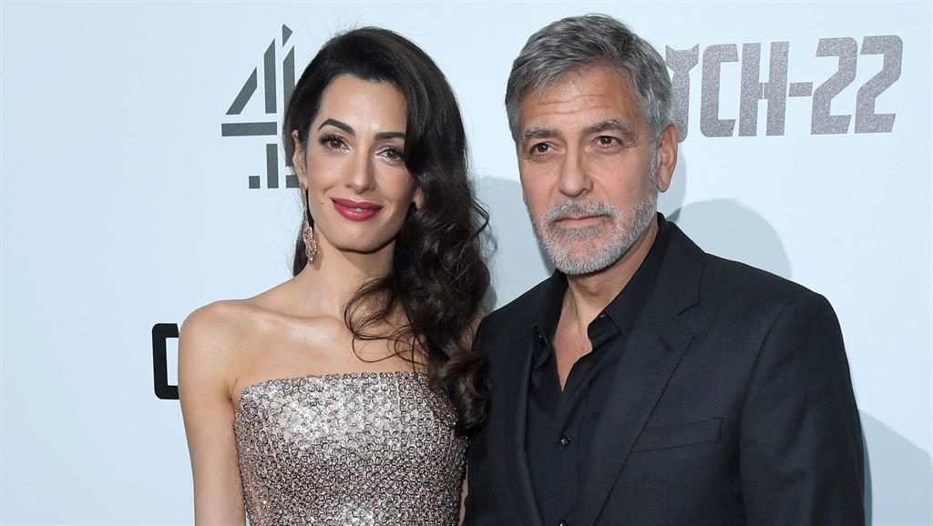 Catch up TV: Amal and George on the red carpet last night PICTURE: KARWAI TANG
