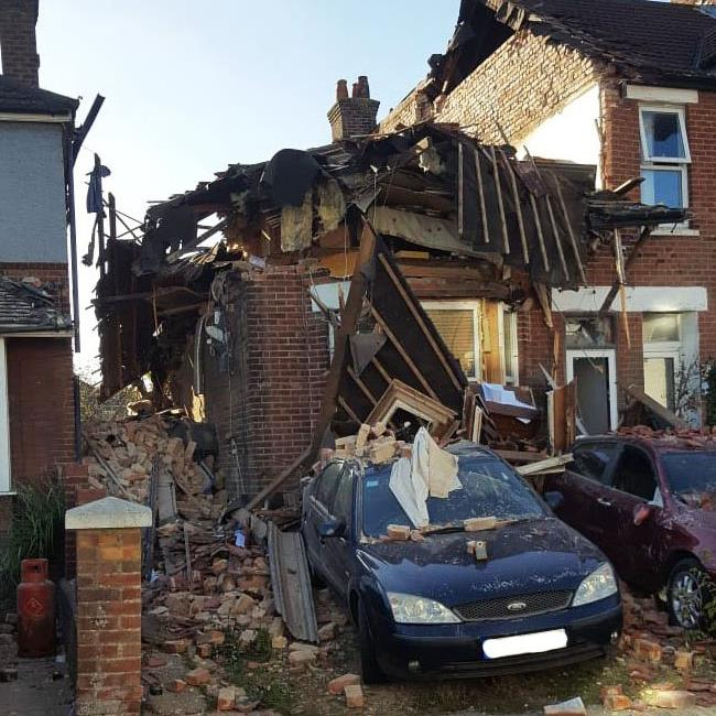 Ruin: The devastation after the blast, motivated by 'malice' PICS: ROGERARBON/ DORSET POLICE/ BNPS