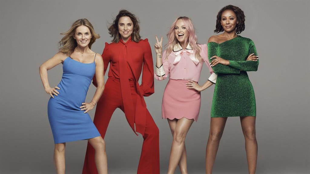 Reunion: The Spice Girls today, with Bunton second from right PICTURE: PA