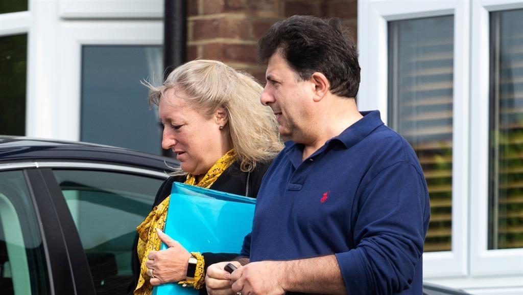 Denials: Ruth Ejvet with husband Nish