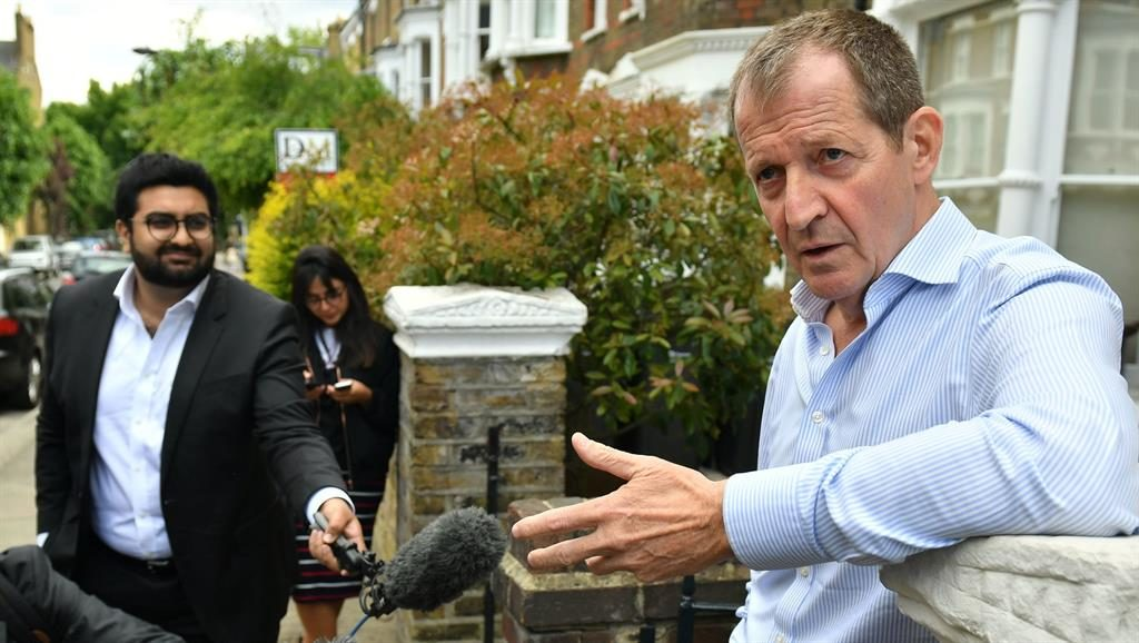 Outsider: Alastair Campbell yesterday PICTURE: PA