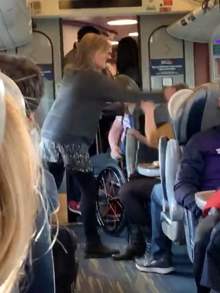 Paying top whack… first class passenger 'slapped' | Metro