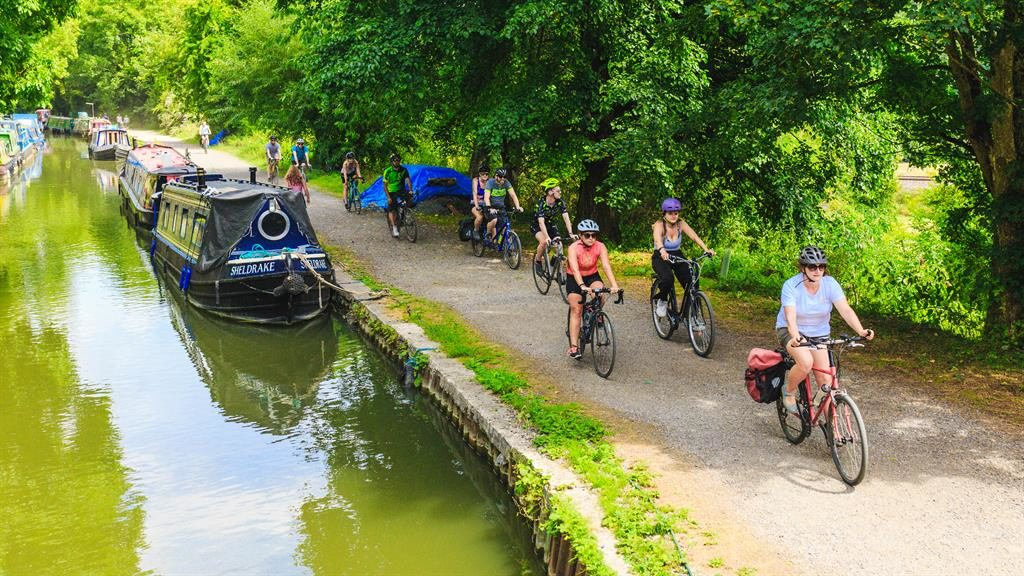 Scenic: The route to Shambala took in country roads and towpaths