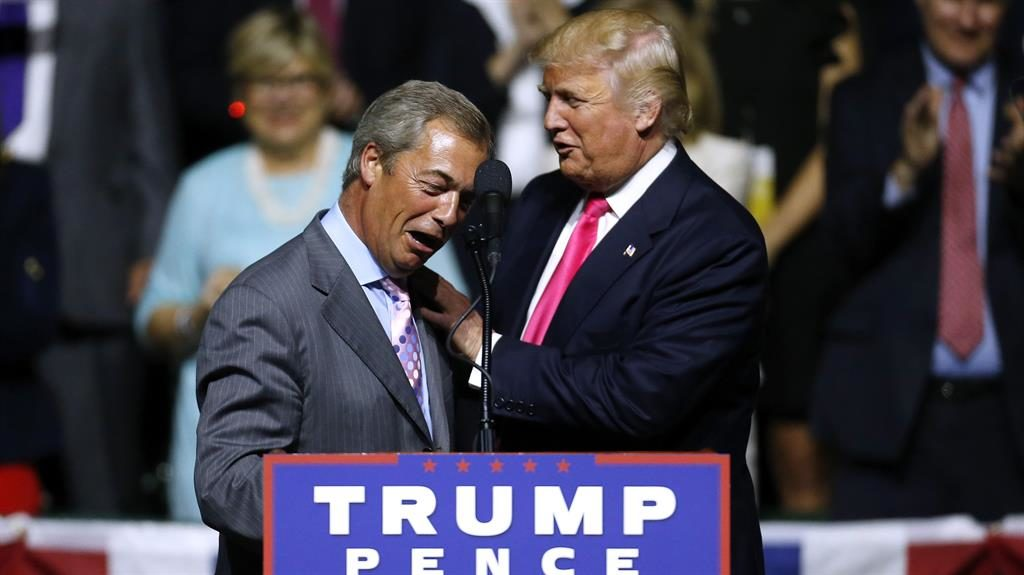 Friends: Trump and Farage in 2015 PICTURE: GETTY