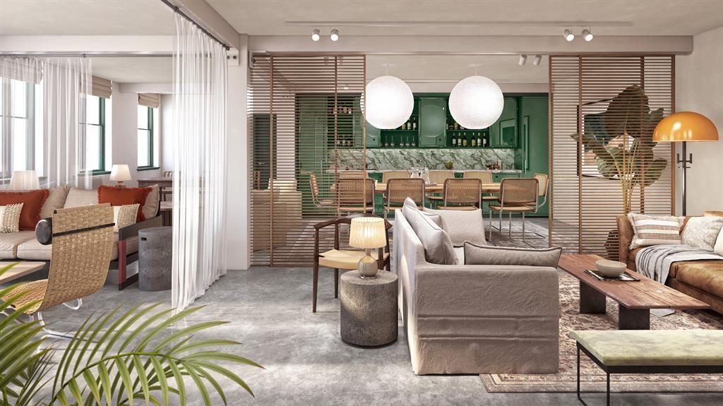 Multi-purpose: Homes at The Italian Building aim to encourage a healthy mix of work and leisure