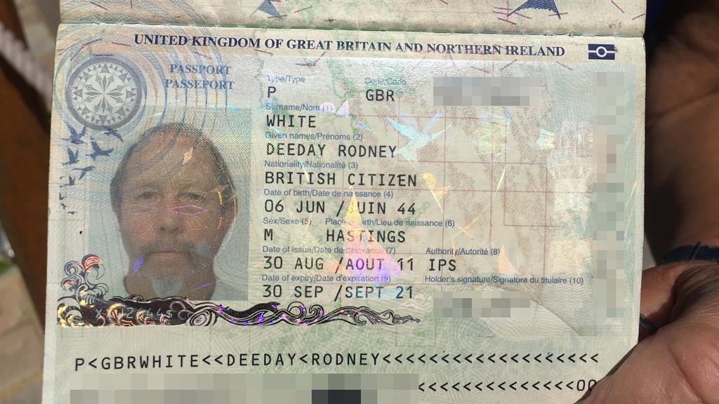 History man: DeeDay's passport and, below, as a young boy in Hastings