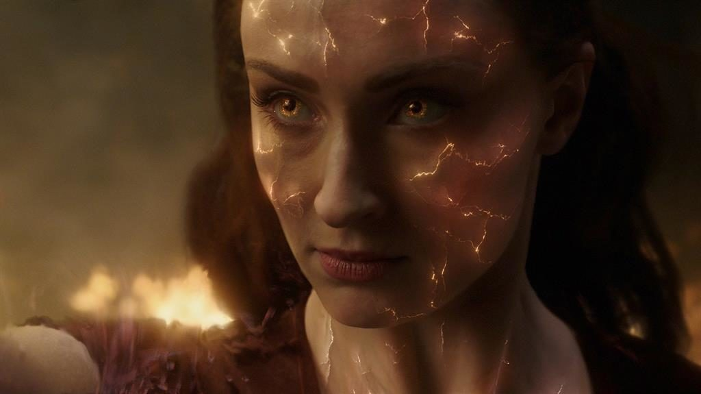 Fired up: Sophie Turner is Jean Grey, who becomes 'the greatest force in the galaxy'
