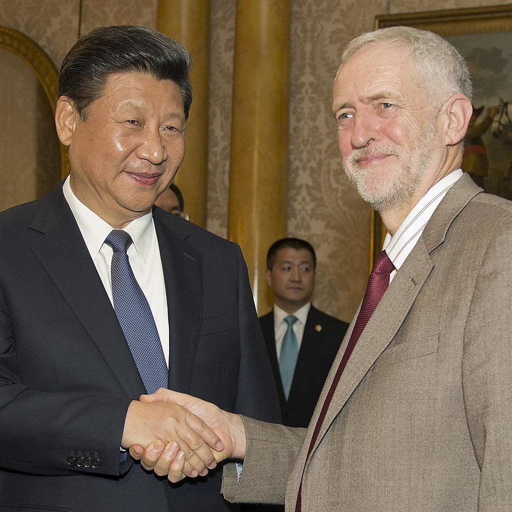 Banquet: Xi and Corbyn PICTURE: GETTY