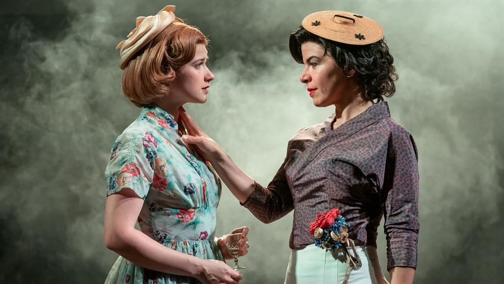 'Private agonies': Karen Fishwick as Daisy and Sirine Saba as Suzannah PICTURE: MARC BRENNER