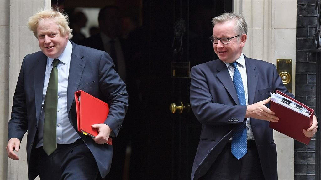 Way out in front: Boris Johnson (left) has the most support, with Michael Gove trailing in second place PICTURE: GETTY