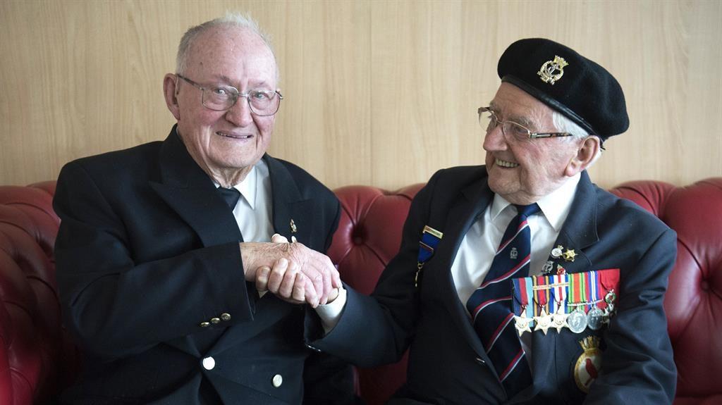 Long journey: Ernest Green (left) and Robert Barnett on the MV Boudicca PICTURES: PA