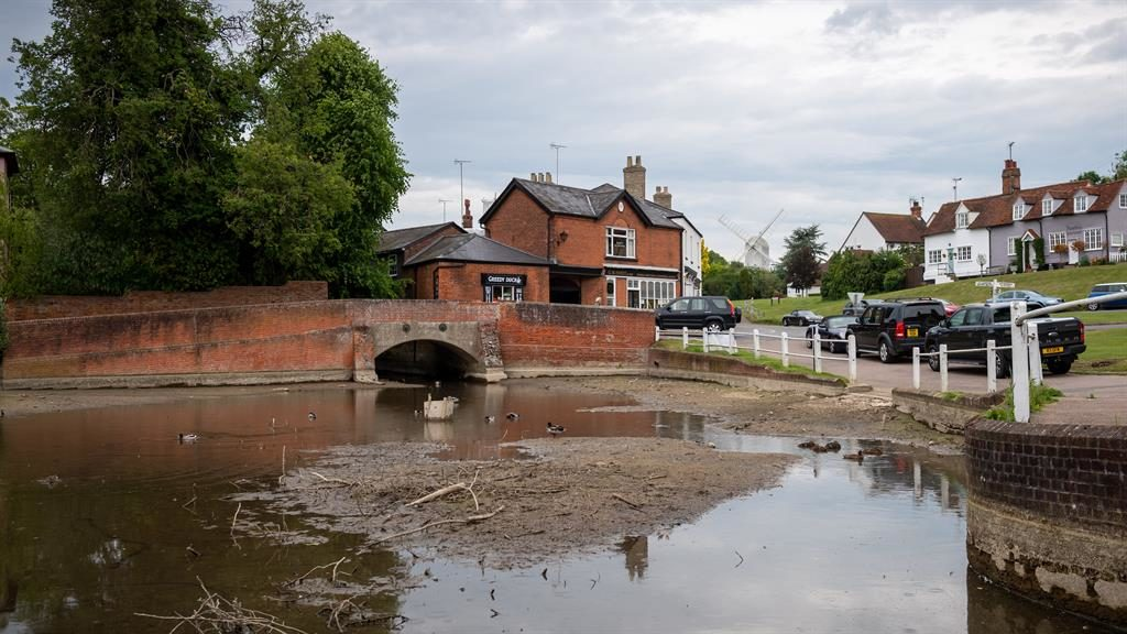 Trout of order: The drained pond in Finchingfeld, Essex