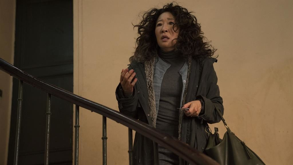 Knife to see you: Sandra Oh PICTURE: BBC
