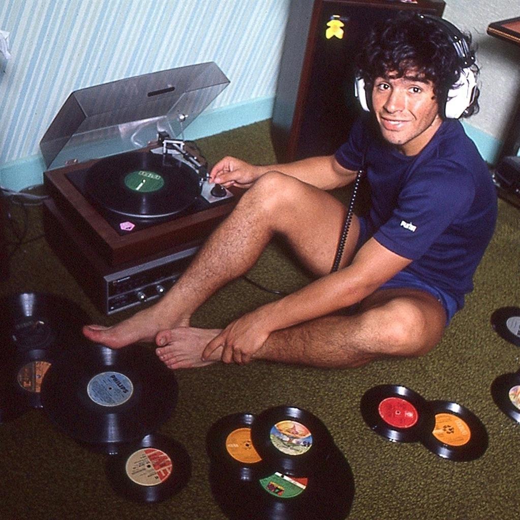 Record-breaker: A bright-eyed Diego Maradona during his early days at Napoli