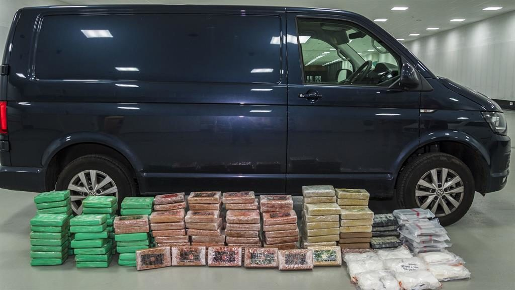 End of the line: More than 400lb of drugs were hidden inside the van PICTURES: PA