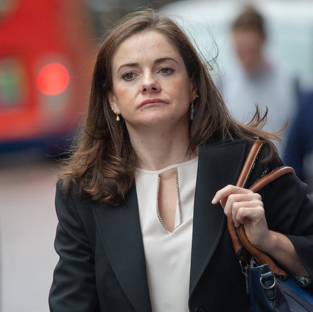 'Ashamed': Dr Roisin Hamilton leaving the hearing. She has blamed her behaviour on alcohol addiction PICTURE: CAVENDISH