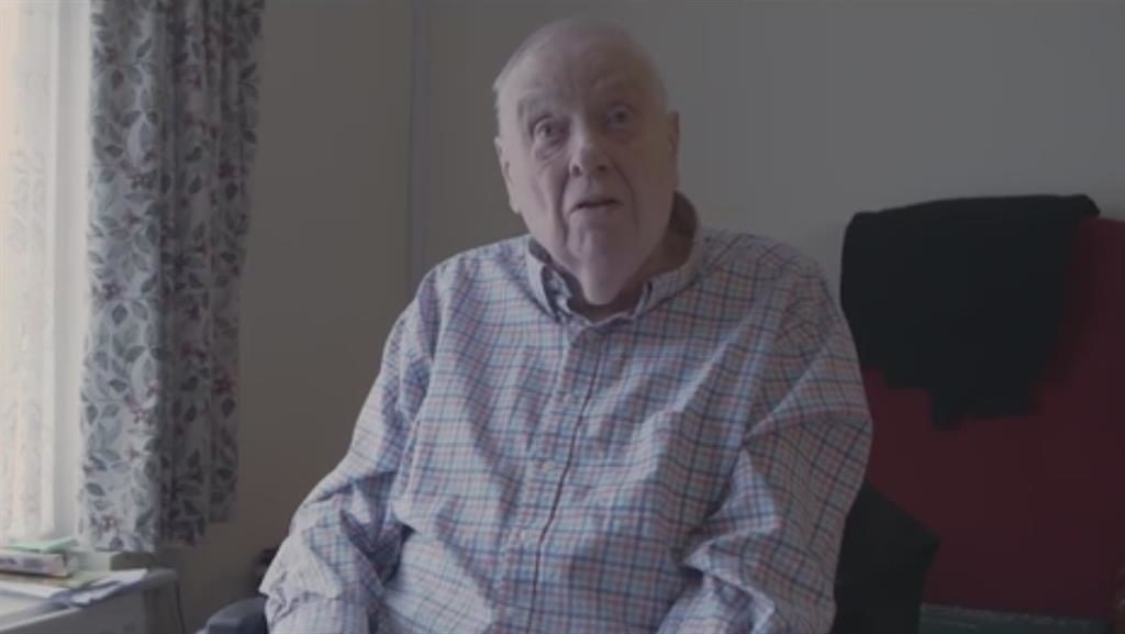 Window on the world: David, 84, said his TV was a vital lifeline