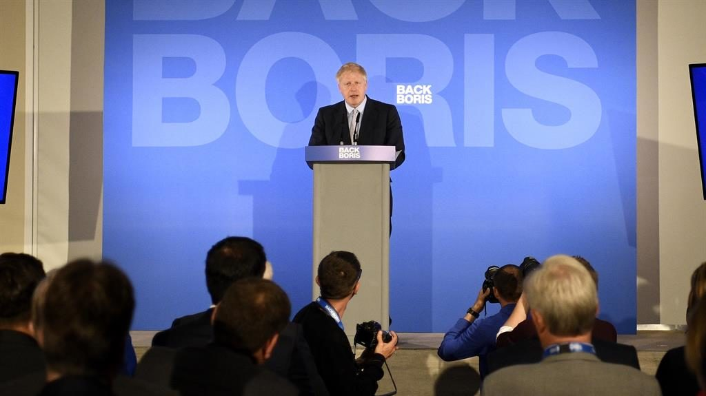 Frontrunner: Boris stormed into the lead in the first ballot PICTURE: GETTY