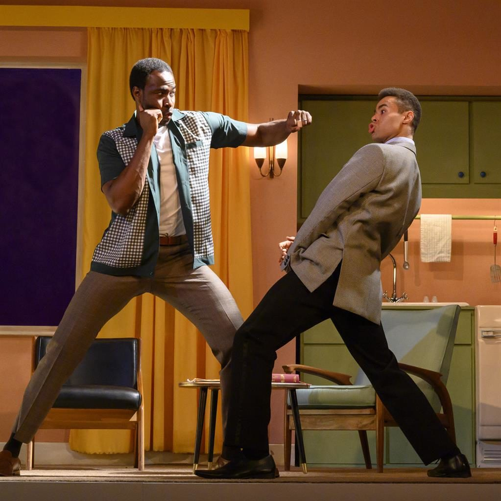 Gloves are off: Miles Yekinni as Brown (left) with Conor Glean as Ali