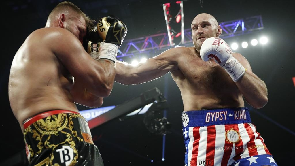 Coming-out party: Fury stopped Schwarz inside two rounds at the MGM