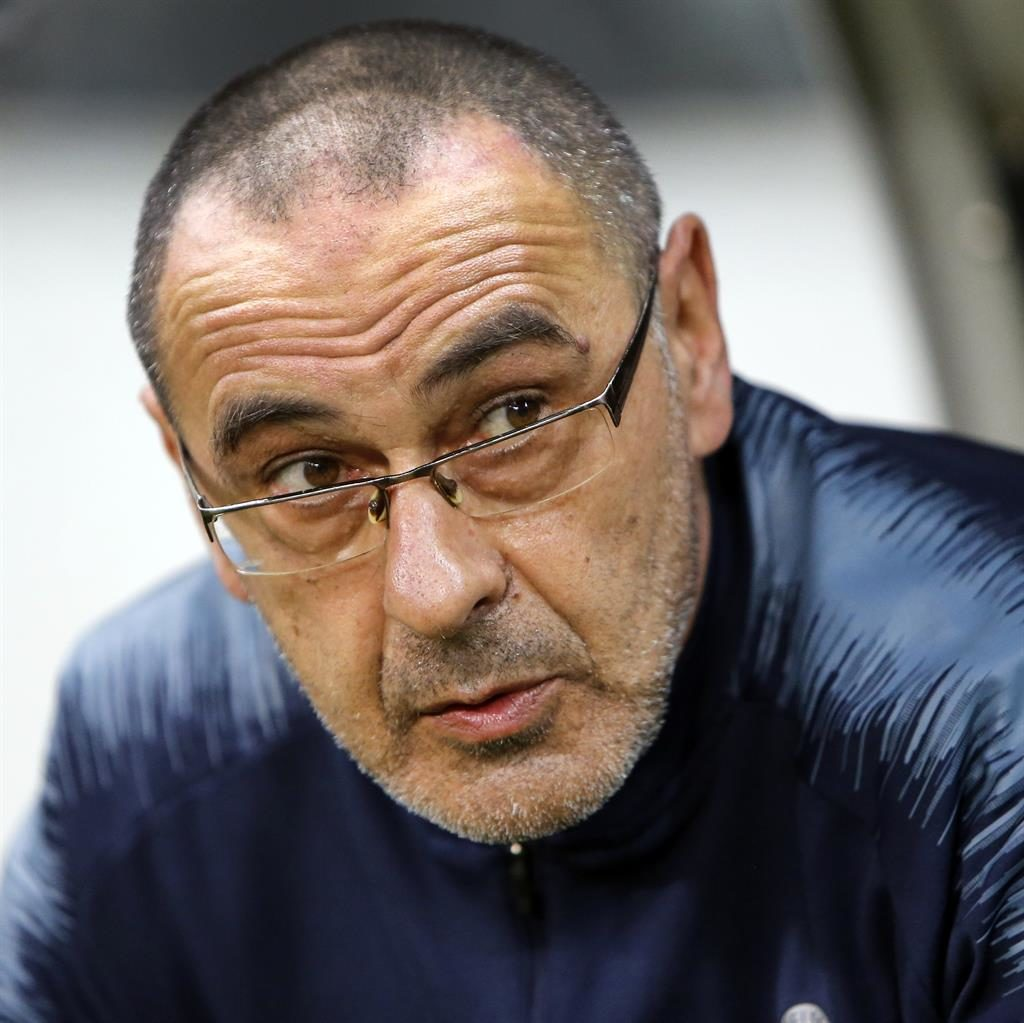 Going home: Sarri has left Stamford Bridge after just one season in Maurizio Sarri finally left Chelsea charge PICTURE: AP