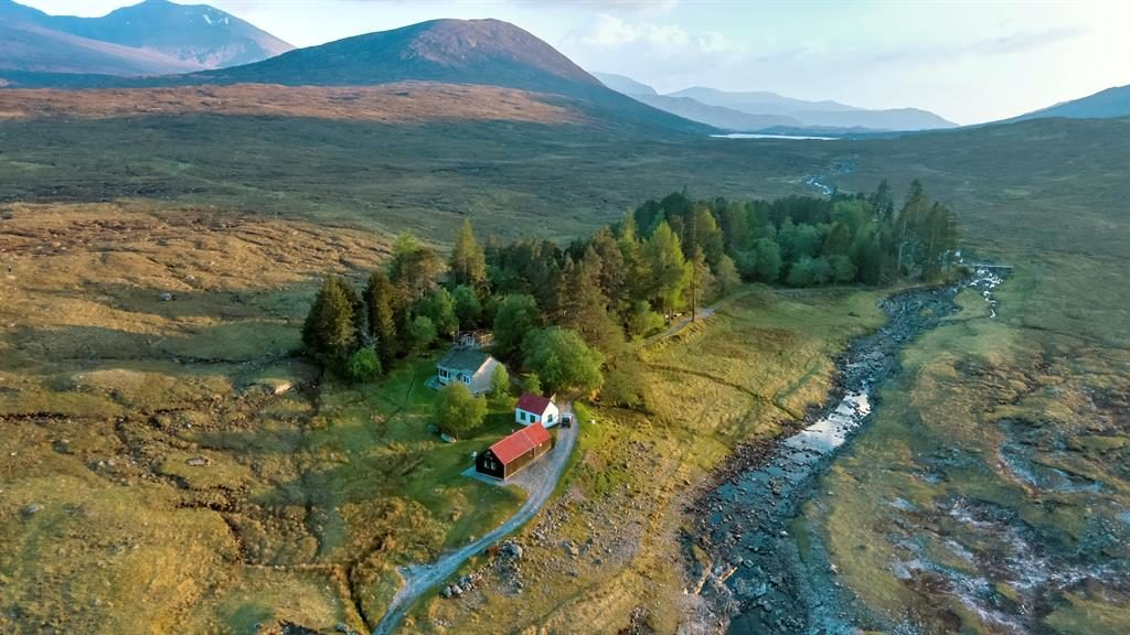 Available to view: Cottage, bothy, game larder and stunning scenery come with package