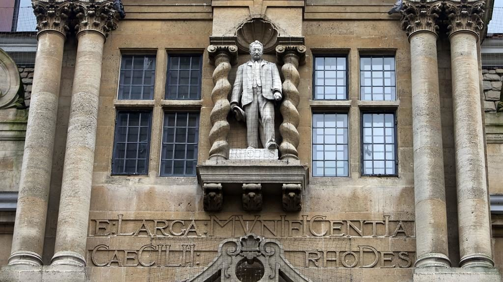Statue of Cecil Rhodes, Oriel College, Oxford PICTURE: STEVE PARSONS/PA ARCHIVE/PA IMAGES