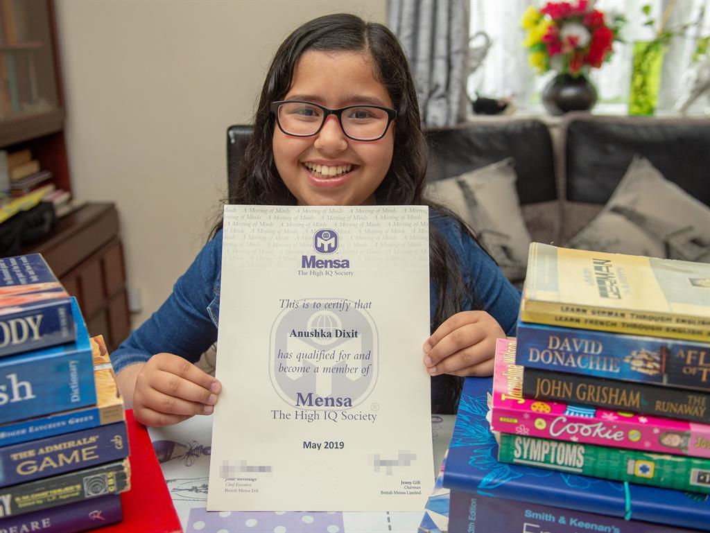 Schoolgirl, 11, scores highest possible mark in Mensa IQ