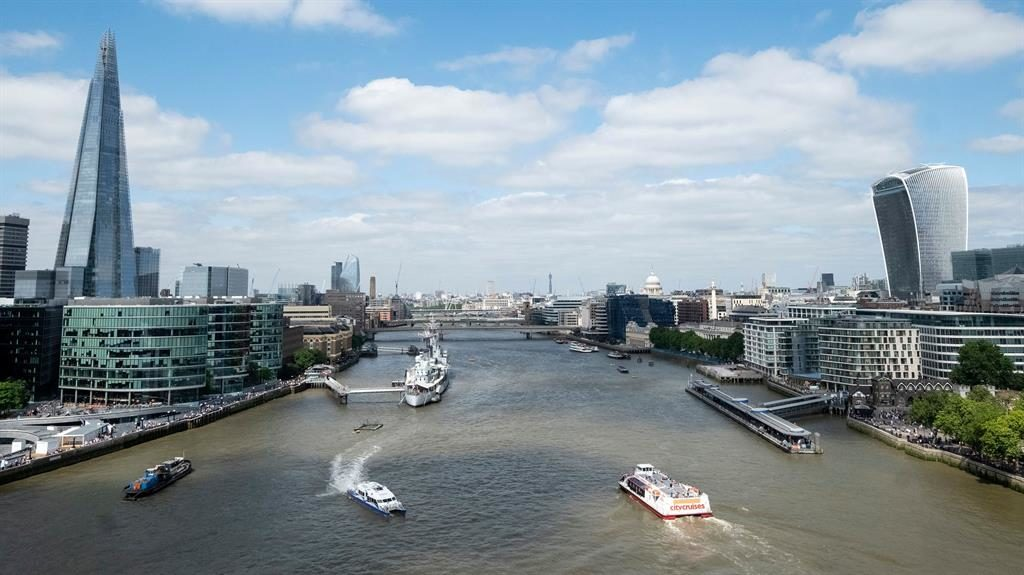 Pollution: A view of the River Thames from Tower Bridge PICTURE: REX