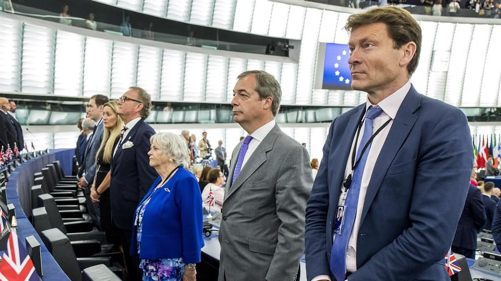 For turning: Ann Widdecombe, Nigel Farage and Richard Tice PICTURE: REX