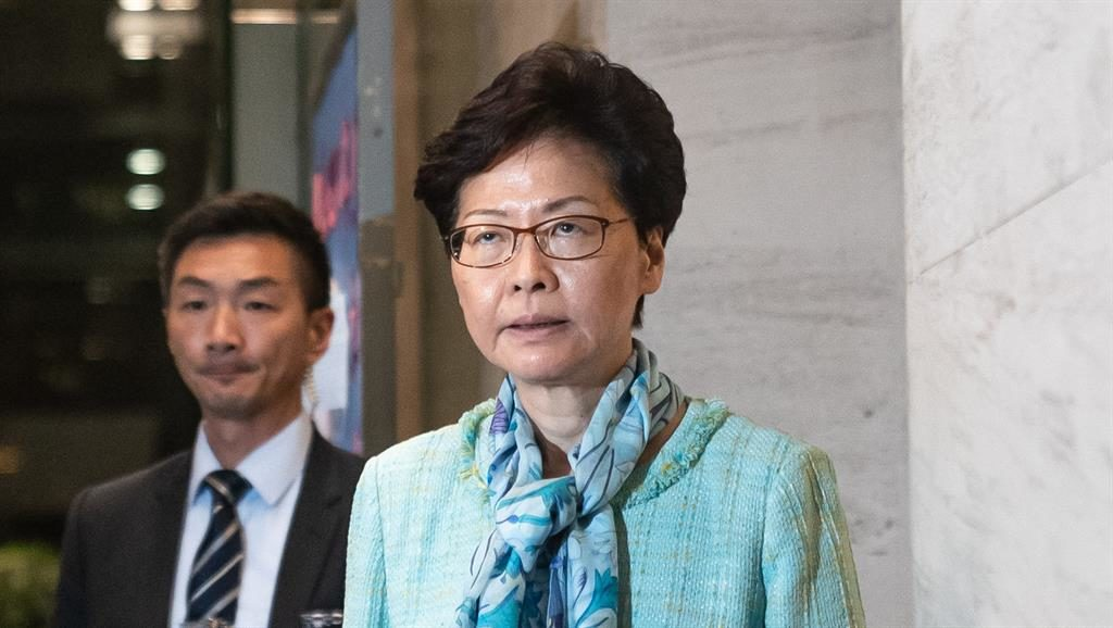 Call for peace: Hong Kong leader Carrie Lam PICTURE: GETTY