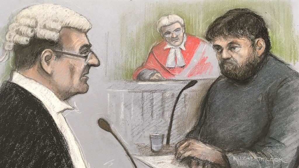 Claims: Artist's impression of Carl Beech in court PICTURE: ELIZABETH COOK/PA