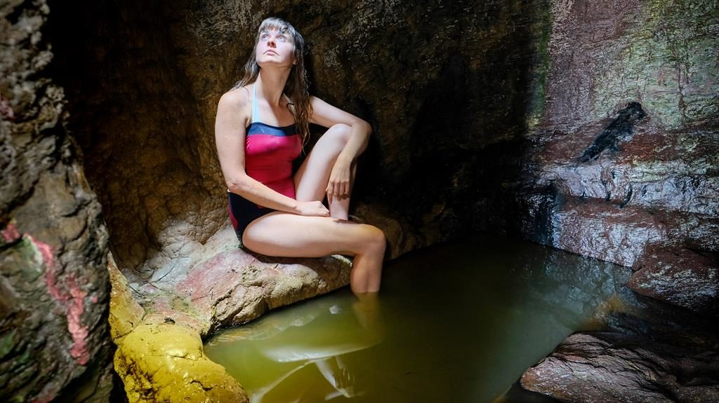 Come on in: The 220-year-old, 3ft-deep bath is fed by natural spring water PICTURES: SWNS