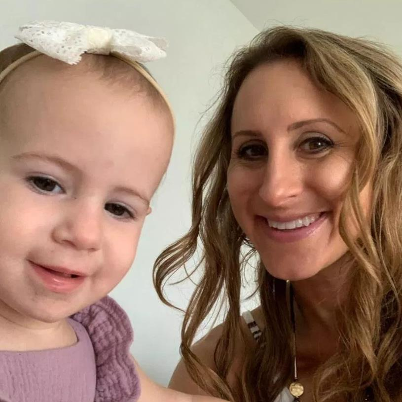 Tribute: Kimberley Schultz Wiegand shared a picture of her with her 19-month-old daughter