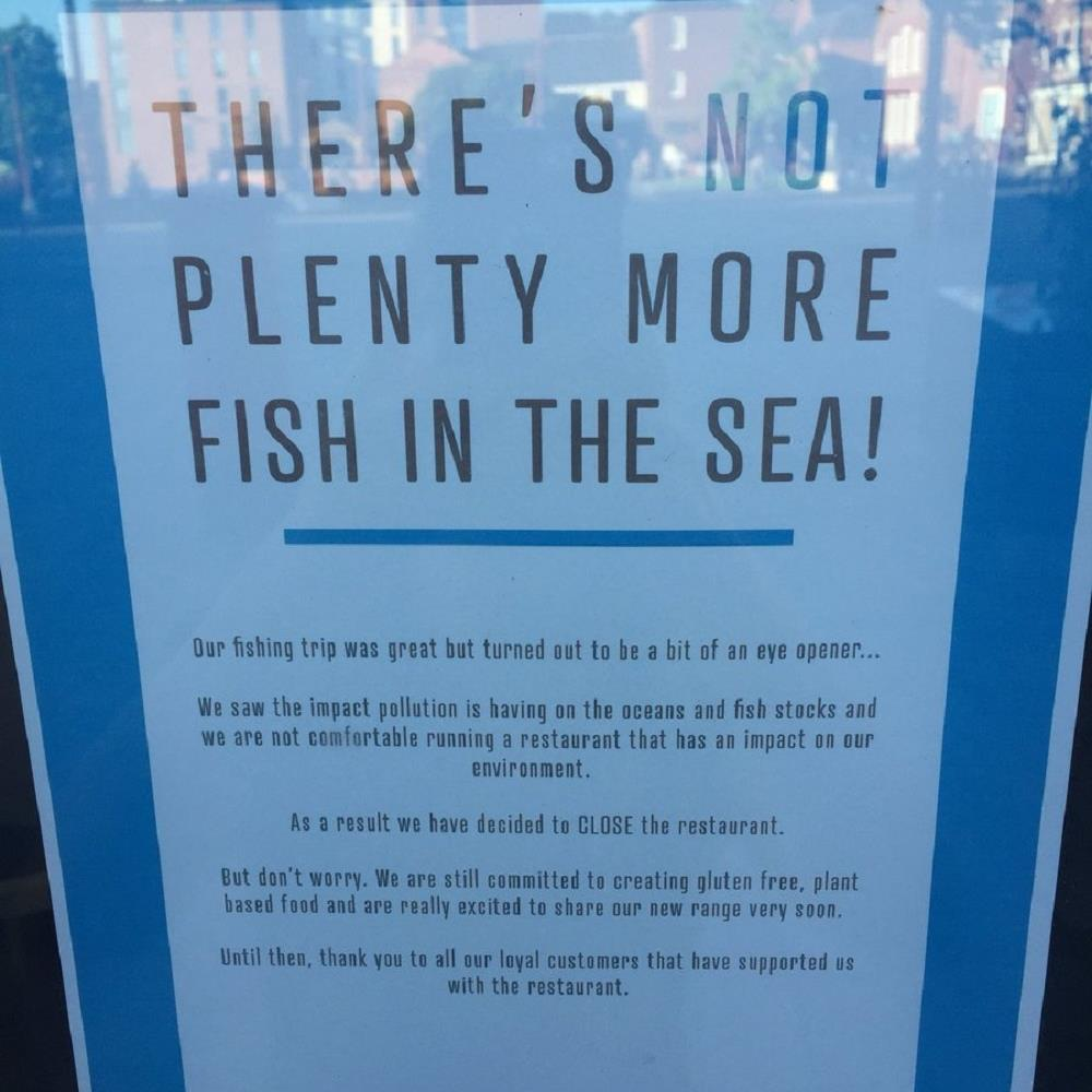 Net loss: The poster announcing why the chippy is closing down PICTURE: PA