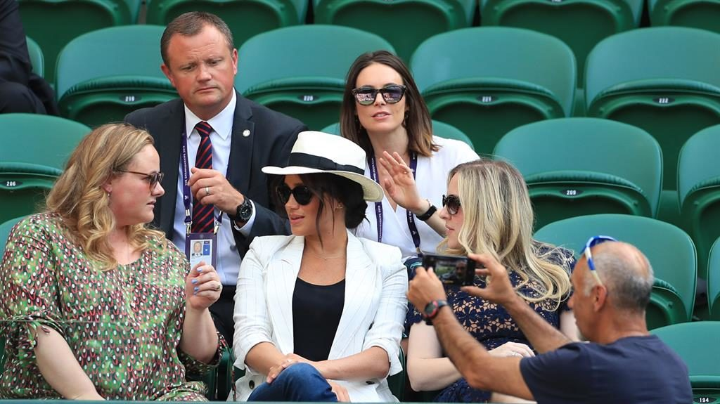 'Private capapcity': Meghan in the royal box to watch a Serena Williams match