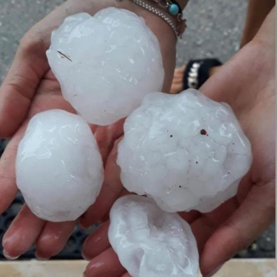 Extreme: Huge hailstones broke windows in Italy PICTURE: ANSA