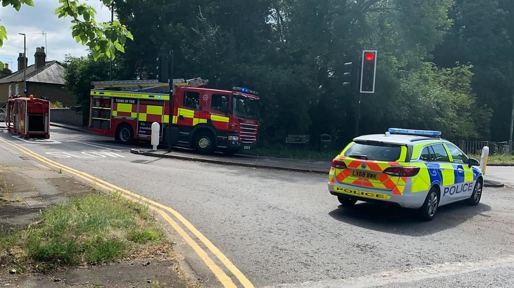 Firefighters tackle blaze at Warner Bros UK studio