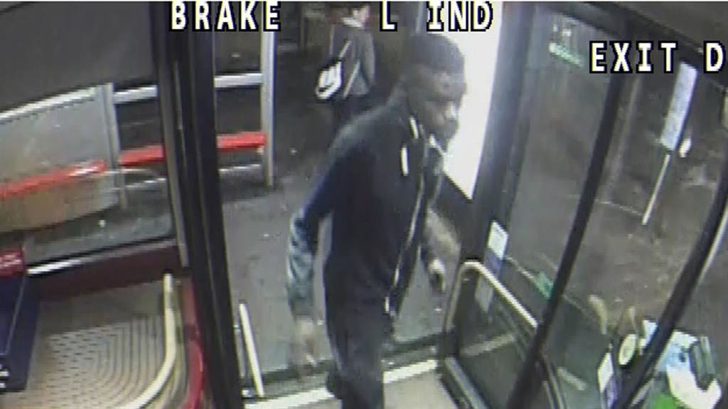 CCTV: The police image of a passenger boarding a bus in east London PICTURE: METROPOLITAN POLICE