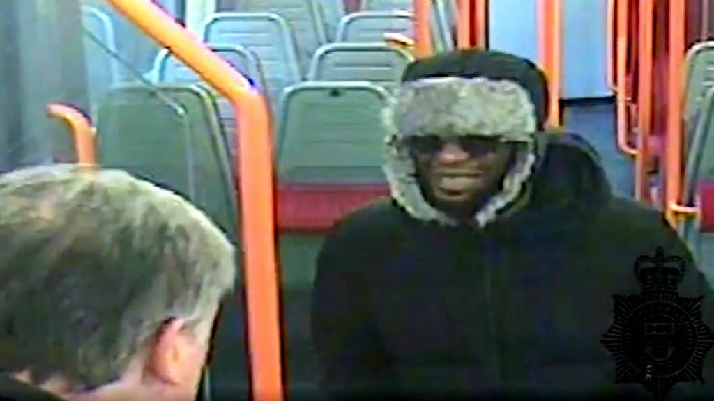 CCTV footage: Darren Pencille (right) argued with Lee Pomeroy on the train before he murdered him PICTURE: REX