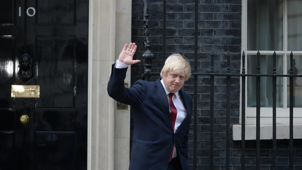 Frontrunner: Boris in No.10 is the starting point for 'Fantasy Cabinet' game PICTURE: OLI SCARFF/AFP